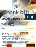 Strategic Branding of Bank BJB