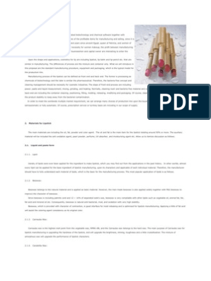 Lipstick Process & Flow Chart | Wax | Cosmetics