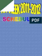 ict week schedule