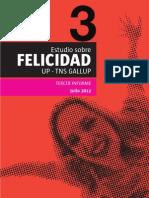 """INFORME DE LA ENCUESTA SOBRE """"FELICIDAD"""" - 2012"""
