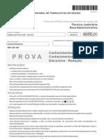 Fcc 2011 Trt 20a Regiao Se Tecnico Judiciario Area Administrativa Prova