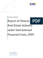 Report of Chinese Real Estate Industry under International Financial Crisis, 2009