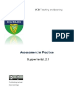 Common Assessment Methods in Higher Education: Ass Methods Wklt Review_scd