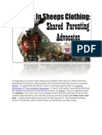 Wolves in Sheeps Clothing Shared Parenting Advocates