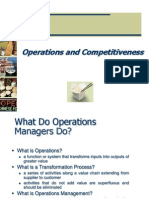 1)Operations and Competitiveness