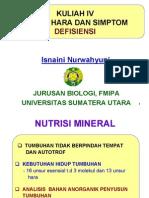 Bio212 Handout Kuliah 4 - Unsur Hara Dan Simptom Defisiensi