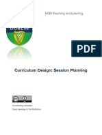 Curriculum-Session Planning Scd