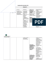 Organización Curricular 2013 1º y 2º semestre 8 basico