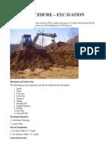 Excavation Procedure