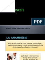 Anamnesis e Informe