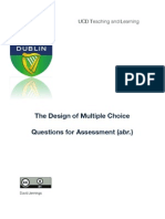 The Design of Multiple Choice Questions: