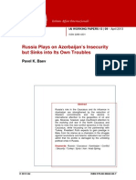 IAI Working Papers. April 2013. Pavel Baev...Russia Plays on Azerbaijan's Insecurity
