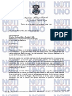 Carta del Arzobispo de San Juan