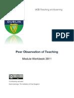 Peer Observation of Teaching: Peer Observation Scd
