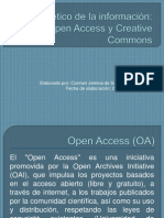 Open Access y Creative Commons (Cambio)