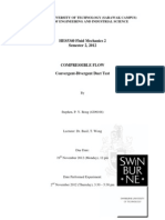 HES5340 Fluid Mechanics 2, Lab 2 - COMPRESSIBLE FLOW (Converging-Diverging Duct Test) (Semester 2, 2012) by Stephen, P. Y. Bong