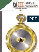 Ricoeur Tiempo y Narracion III El Tiempo Relatado