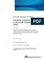Customer Returns in Microsoft Dynamics AX 2009