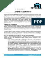 Losas y Asoteas de Concreto Impermeabilizante