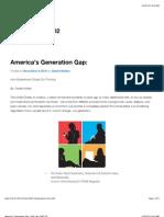 America's Generation Gap