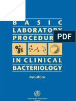 Basic Laboratory Procedures in Clinical Bacteriology