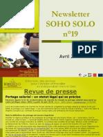 Newsletter Soho Solo n19 Avril09