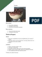 Mousse de Maracujá com Chocolate