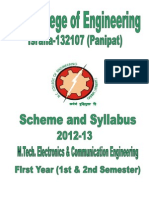 Booklet _ECE_ M_ Tech_ 1st & 2nd Sem PDF