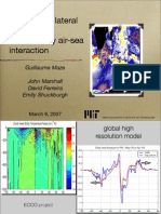 Mixed Layer lateral eddy fluxes mediated by air-sea interactions