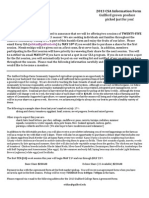 2013 CSA Information Sheet