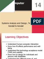 Kendall7e_ch14 Human Computer Interface
