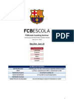 FCB Escola Coaches Seminar-Day 1