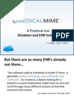 MedicalMime EHR Presentation