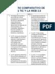 Cuadro Comparativo de Las Tic y La Web 2 Mauxy