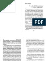 La Factibilidad Pol Tica y El an Lisis de Pol Ticas Meltsner