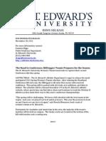 Press Release - SEU Tennis