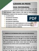 Provas - Parte III - Direito Processual Penal II