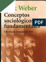 MAX WEBER - Conceptos Sociologicos Fundamentales