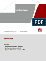 How to Analyze Handover in DT