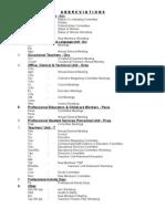 Calendar Abbreviations