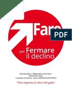 Programma Presidenza Direzione Regionale del Lazio di Andrea Piedimonte Bodini