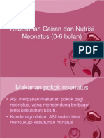 Kebutuhan Cairan Dan Nutrisi Neonatus (0-6 Bulan