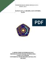 Modul PBO-1(Struktur Dasar Java)