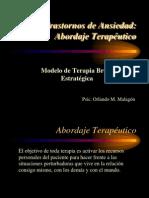 Trastornos de Ansiedad - Abordaje Terapeutico