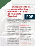 Diseño de Sondas Geotermicas Mediante TRT