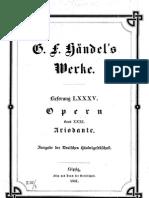 Handel - Ariodante - Score