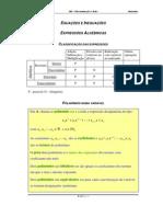 Acetatos - Equações e Inequações