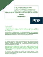 Notice d Organisation Dscg 2012