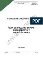 FIN-IN-17_GUIA DE USUARIO SAP PS PRESUPUESTO Y MODIFICACIONES.doc