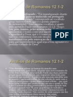 Analise de Romanos 12